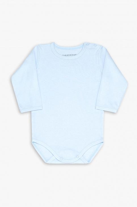 Body manga longa azul infantil