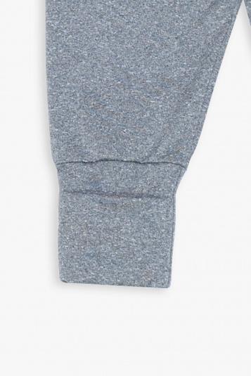 Calça térmica com pé reversível cinza mescla para bebê