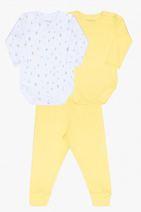 Kit de bodies e culote chuva colorida para bebê