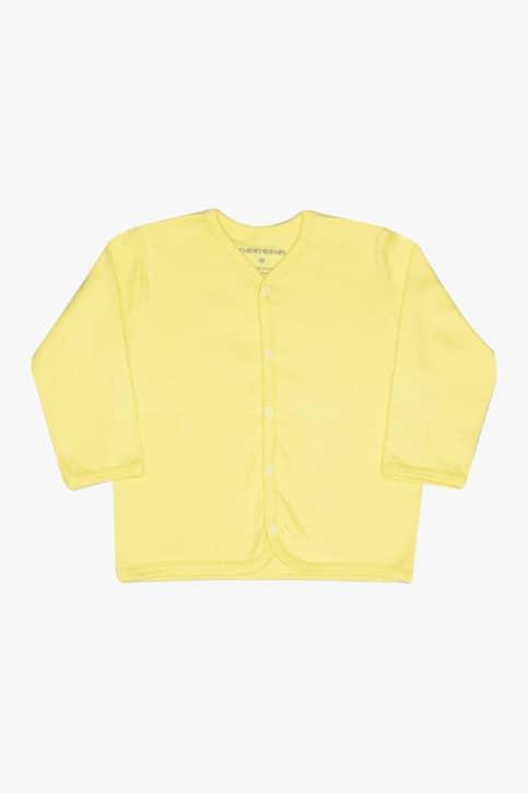 Casaco básico amarelo para bebê