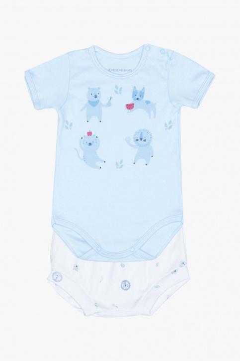 Conjunto de body e cuequinha bichinhos para bebê