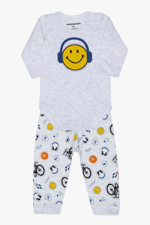 Conjunto saruel de body stickers para bebê