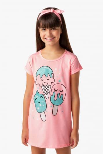 Camisola teen sorvetes coloridos